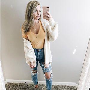 Mustard t shirt bodysuit